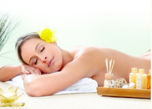 aroma oil body to body massage